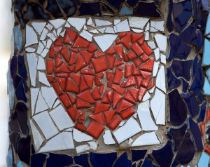 Image of a heart mosaic