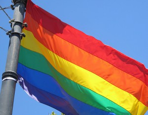 Photo of an LGBT flag