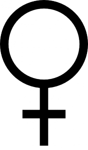 Image of the female symbol (or symbol of Venus)
