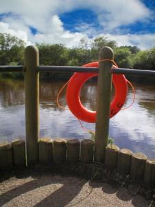 Photo of a lifesaver inner tube