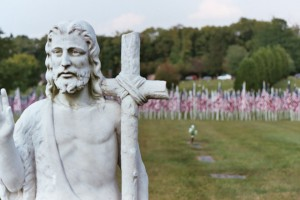 Photo of a 9/11 memorial