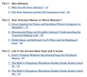 "Screenshot of table of contents from ""Is God A Moral Monster?"""