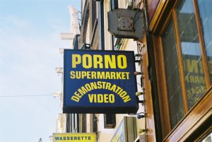 Photo of a porno shop sign