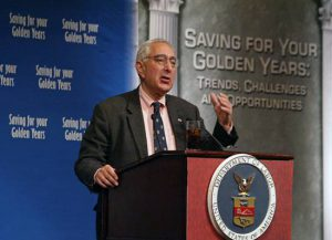 A Photo of Ben Stein speaking at an event