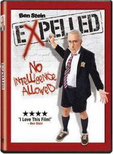 "Cover of Ben Stein's documentary ""Expelled: No Intelligence Allowed"""