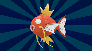 Image of the Pokemon Magikarp, an organge fish