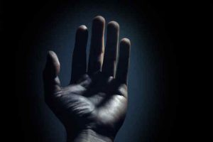 Photo of an open hand