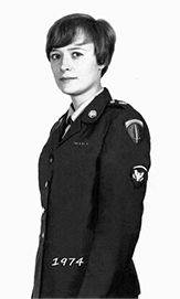 A photo of my mother-in-law Susan Rader when she was in the women's army corps