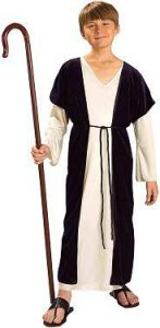Photo of a Biblical Halloween costume for kids - shepherd boy